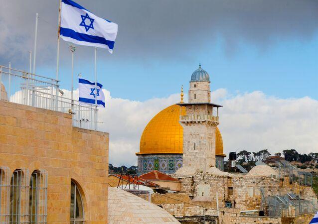 Des drapeaux israéliens à Jérusalem