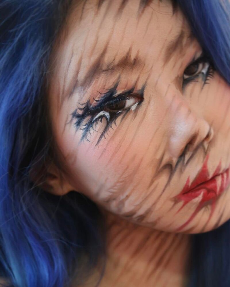 Une belle chimère: une artiste sud-coréenne crée des illusions d'optique sur son corps