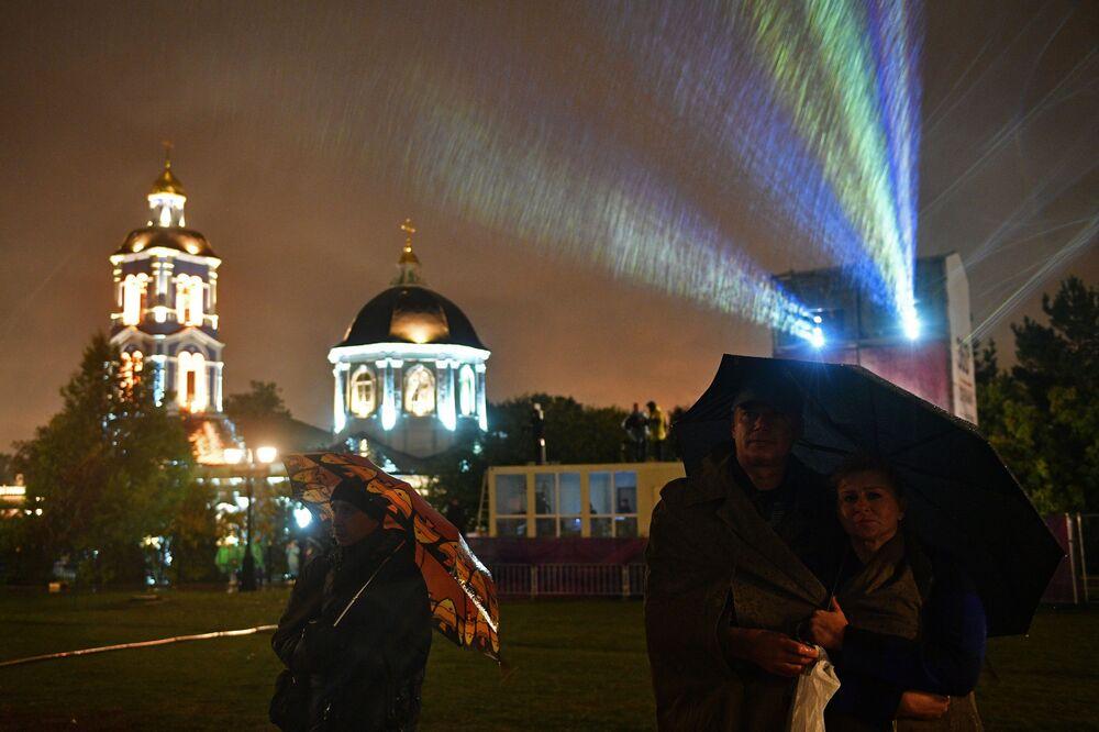 Des immeubles ressuscités lors du festival Cercle de lumière