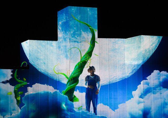 Répétition de la cérémonie d'ouverture du festival «Cercle de lumière» à Moscou