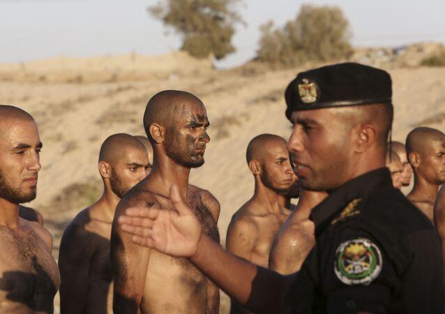 Les étudiants du collège de police de la bande de Gaza