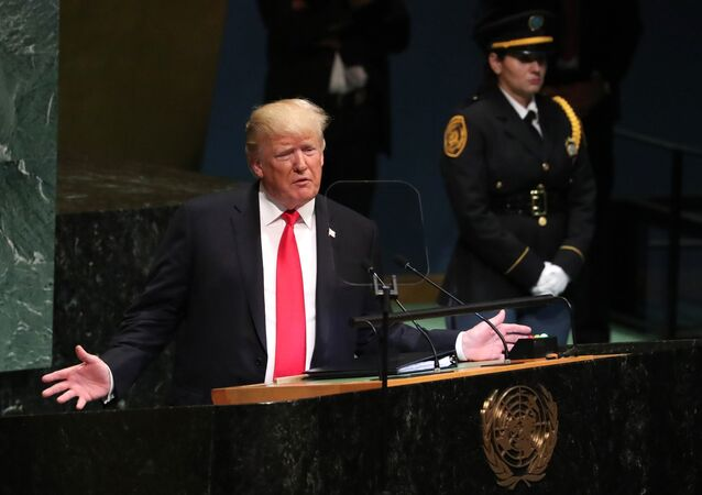 U.S. President Donald Trump addresses the 73rd session of the United Nations General Assembly at U.N. headquarters in New York, U.S., September 25, 2018