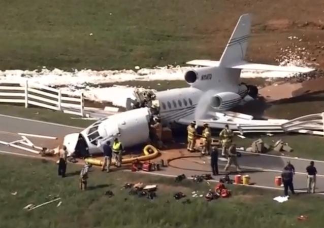 Crash d'un Falcon 50 à Greenville, en Caroline du Sud
