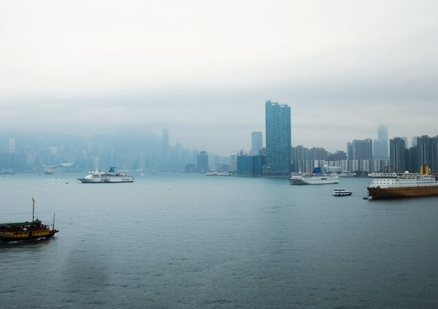 Vue de la mer à Hong Kong