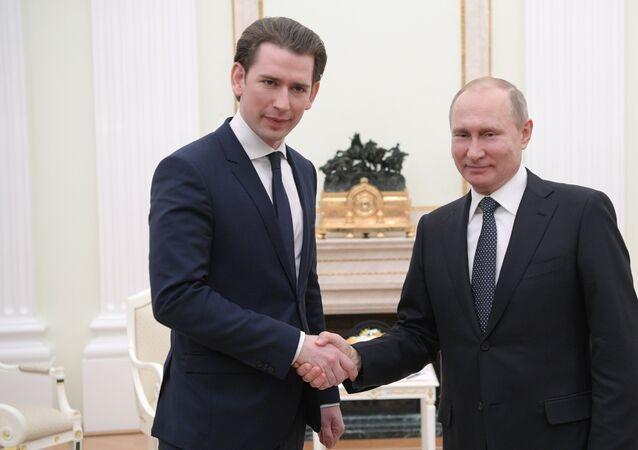 Vladimir Poutine et Sebastian Kurz