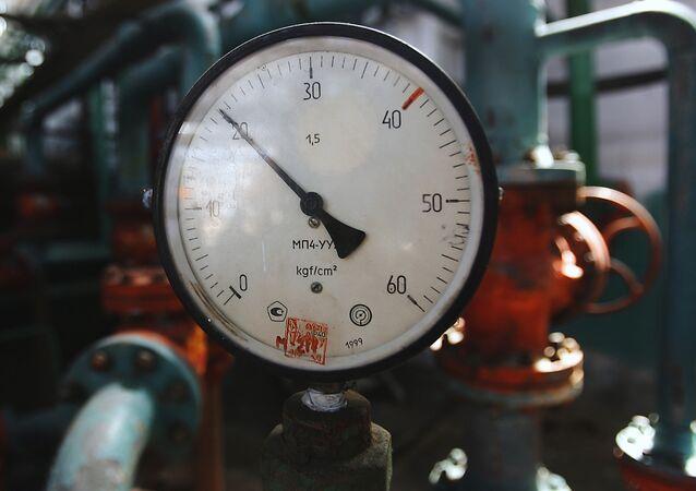 Une usine de transformation de gaz