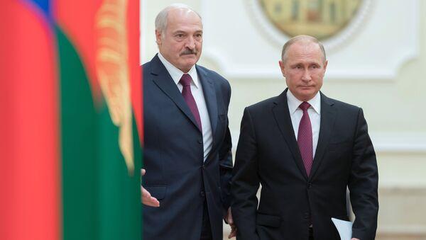 Alexandre Loukachenko et Vladimir Poutine - Sputnik France