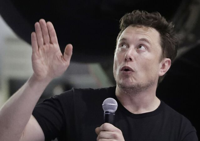 SpaceX founder and chief executive Elon Musk speaks after announcing Japanese billionaire Yusaku Maezawa as the first private passenger on a trip around the moon, Monday, Sept. 17, 2018, in Hawthorne, Calif
