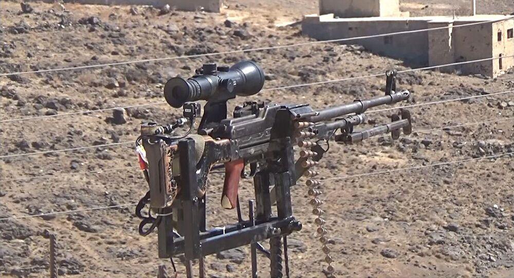 Un Syrien a inventé un patrouilleur électronique équipé d'une kalachnikov