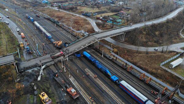 Effondrement d'un pont routier dans la région de l'Amour - Sputnik France