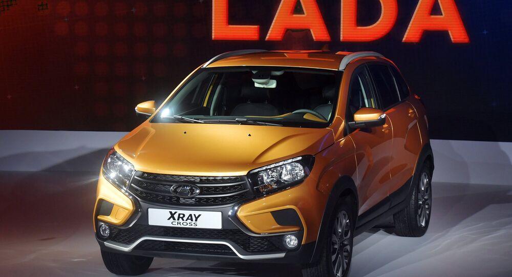 La Lada XRAY Cross au Salon de l'automobile de Moscou