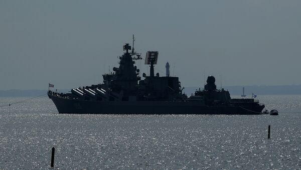 Le croiseur lance-missiles russe Marchal Oustinov - Sputnik France