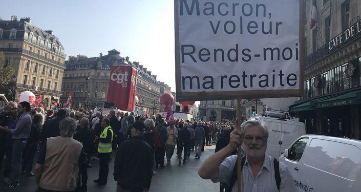 Manifestation à Paris: les retraités réclament une revalorisation de leurs pensions, 18 octobre 2018