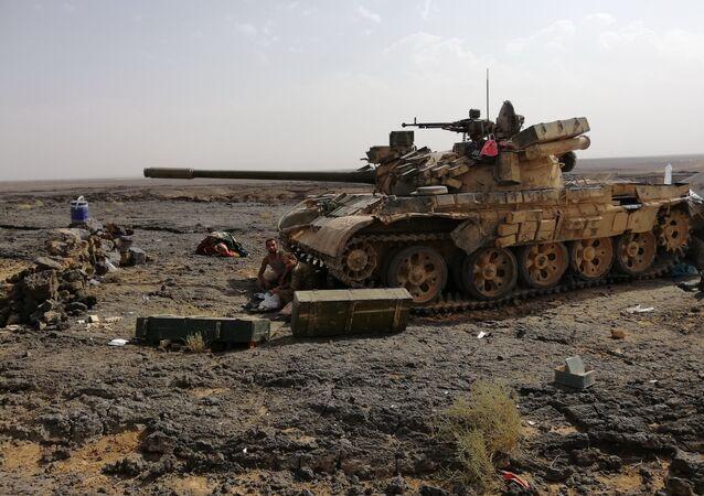 Un char de l'armée syrienne