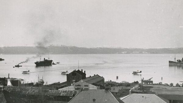 Le fjord de Trondheim près d'Ilsvika pendant la Seconde Guerre mondiale - Sputnik France