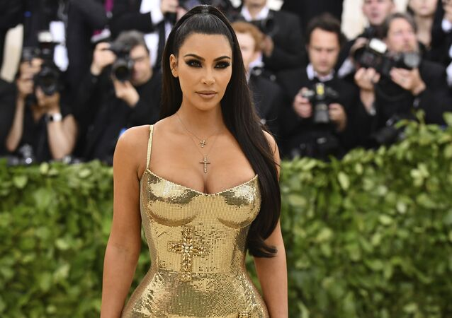 Kim Kardashian attends The Metropolitan Museum of Art's Costume Institute benefit gala celebrating the opening of the Heavenly Bodies: Fashion and the Catholic Imagination exhibition on Monday, May 7, 2018, in New York