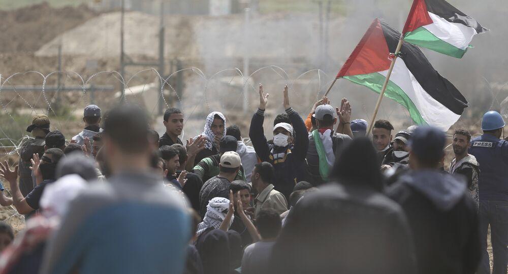 Manifestants palestiniens