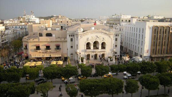 Théâtre municipal et le Palmarium sur l'avenue Bourguiba à Tunis - Sputnik France