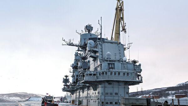 Le porte-avions russe Admiral Kouznetsov en restauration à Mourmansk - Sputnik France