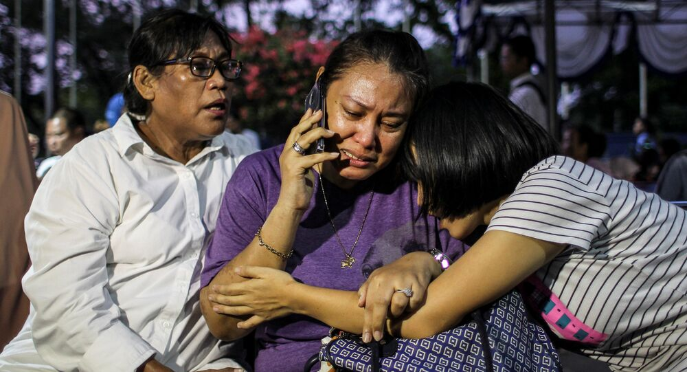 Proches des passagers de l'avion de Lion Air