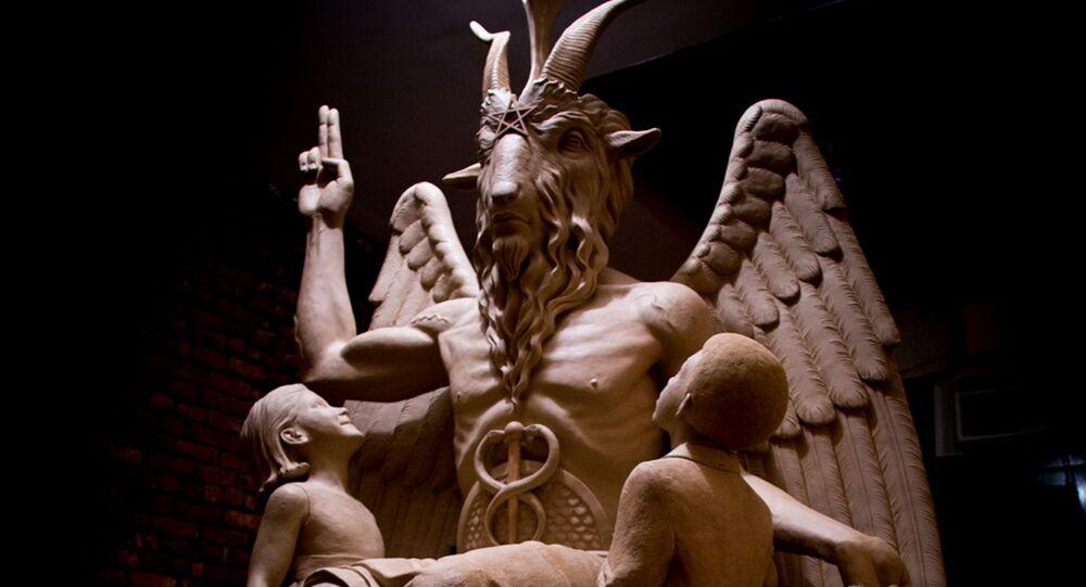 Skulptur von Satan