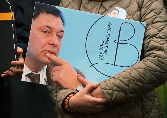 Manifestation en soutient au journaliste Kirill Vychinski à Moscou