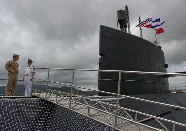 Le sous-marin chinois Yuan à la base navale de Zhoushan
