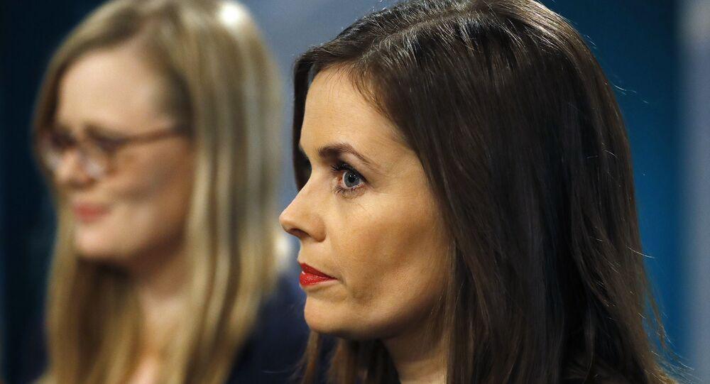 La Première ministre islandaise Katrin Jakobsdottir