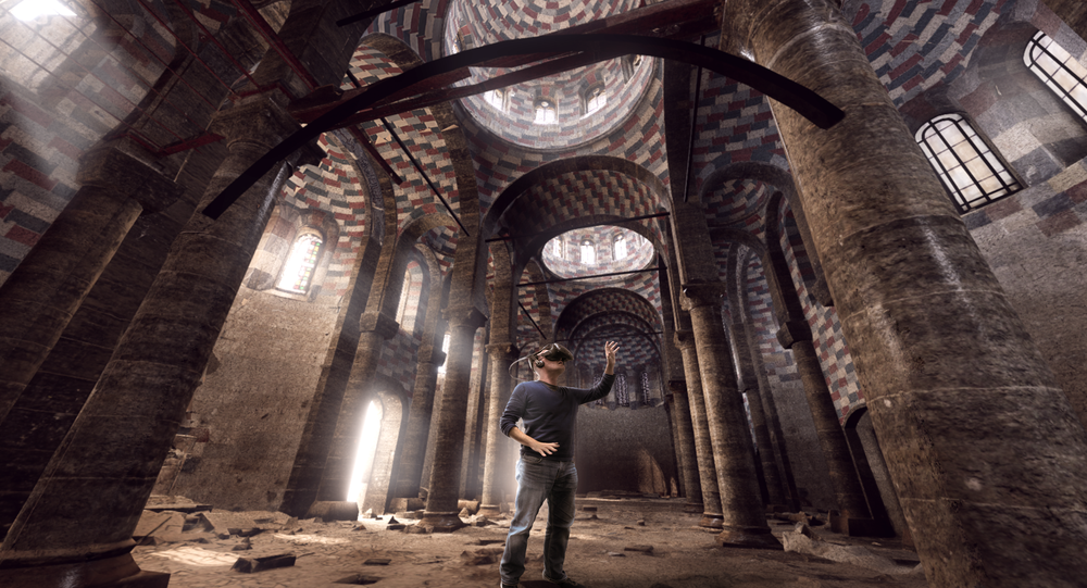 Eglise_Mossoul Institut du Monde Arabe, Ubisoft VR Experience – created with Iconem and UNESCO data
