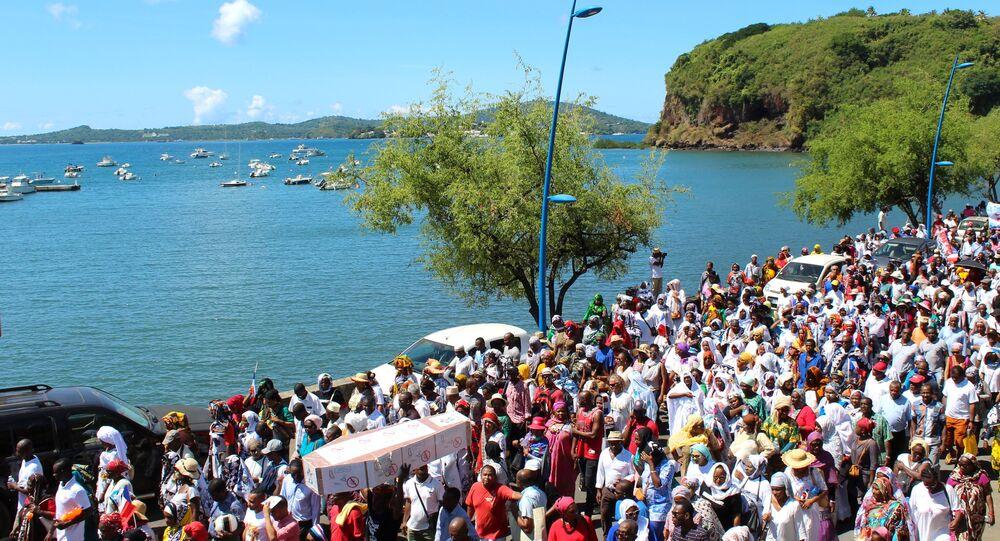 Manifestation à Mamoudzou le 10 mai 2018 contre un éventuel changement de statut de Mayotte
