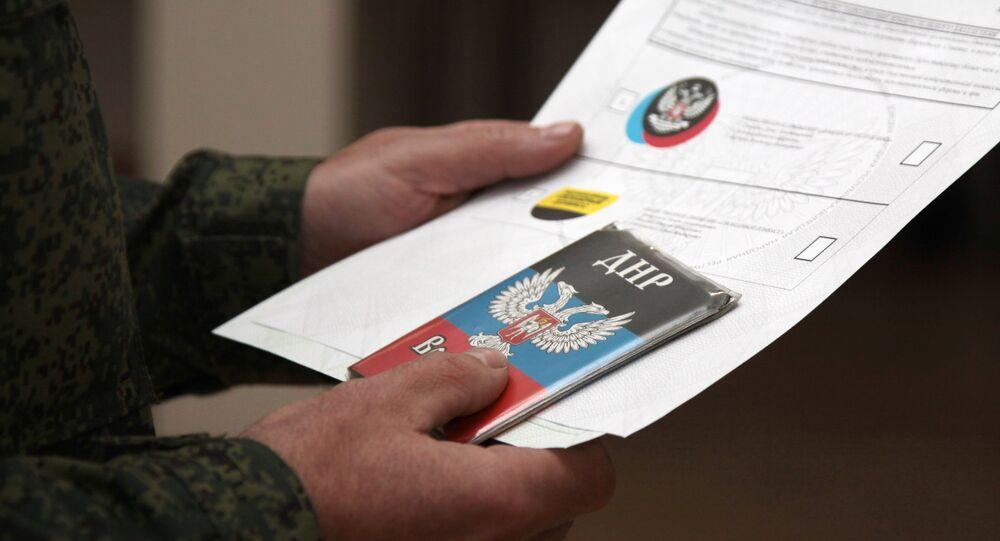 Les élections dans le Donbass