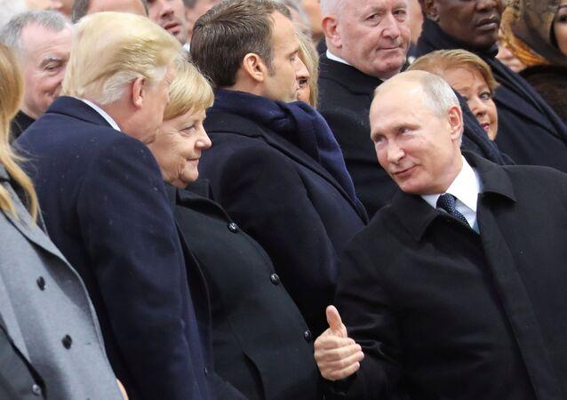 Vladimir Poutine et Donald Trump à Paris