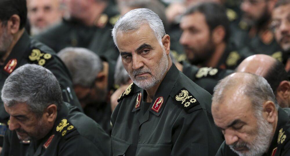 Le général Qassem Soleimani, commandant de l'unité spéciale Al-Qods du Corps des gardiens de la révolution islamique