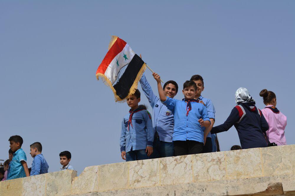 Enfants à Alep, Syrie