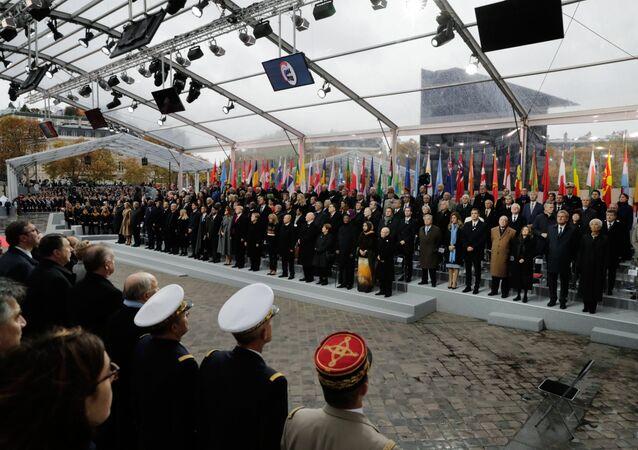 La commémoration du centenaire de l'armistice de 1918 à Paris
