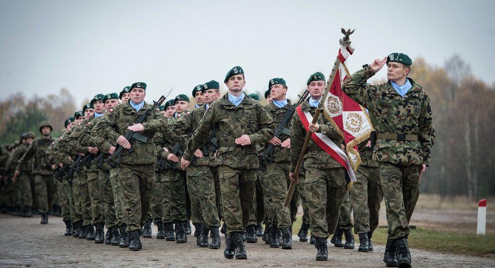 Des soldats polonais dans la force de réaction rapide de l'Otan