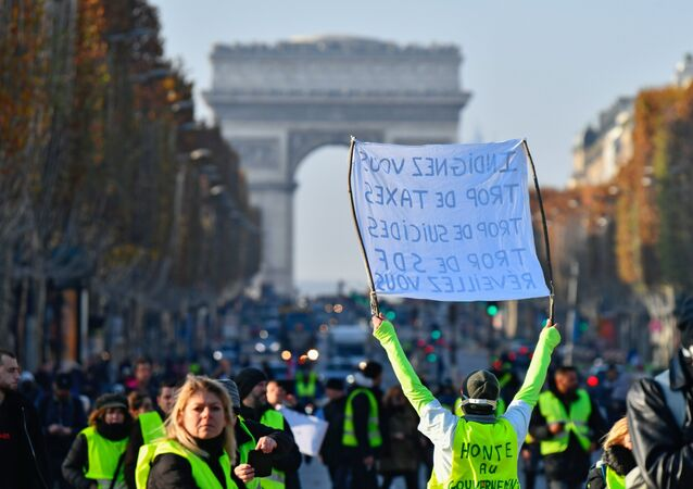 Manifestation des gilets jaunes en France