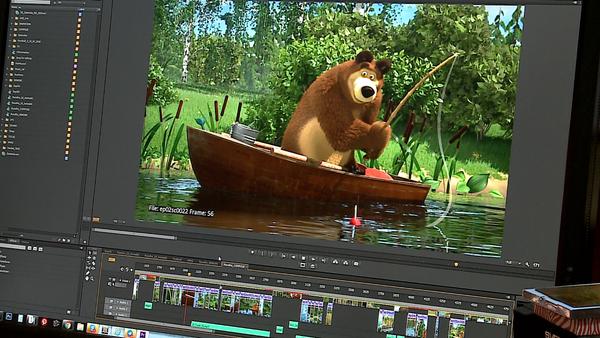 Una escena de la animación final de un episodio - Sputnik France