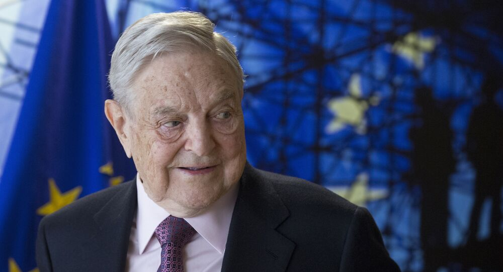 George Soros, fondateur de l'Open Society Foundation à Bruxelles en avril 2017.
