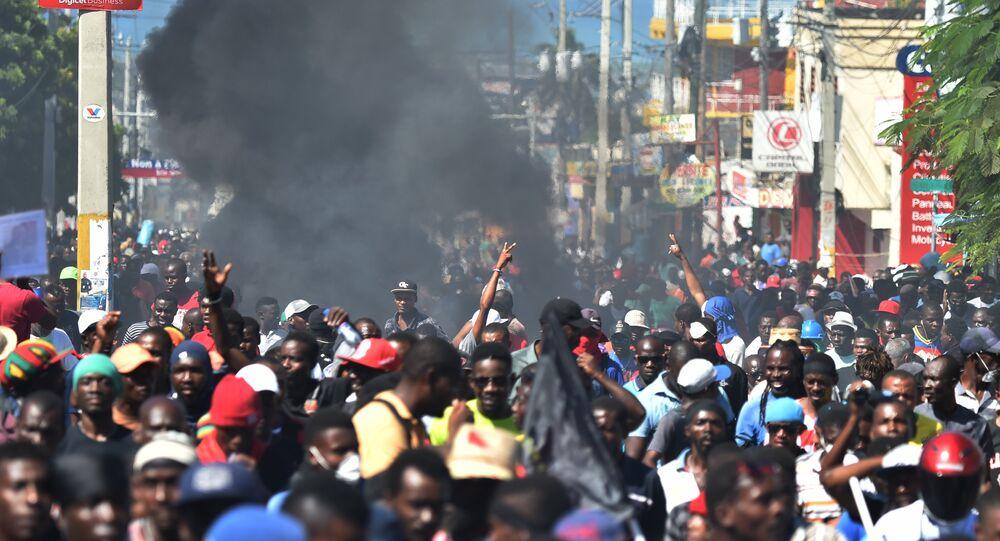 Manifestations à Port-au-Prince