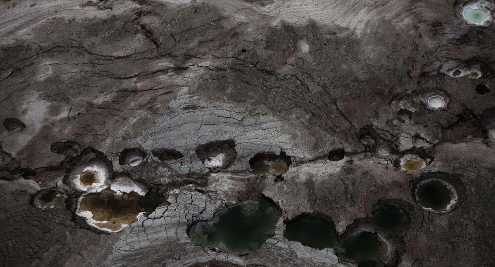 Vue aérienne de la mer Morte