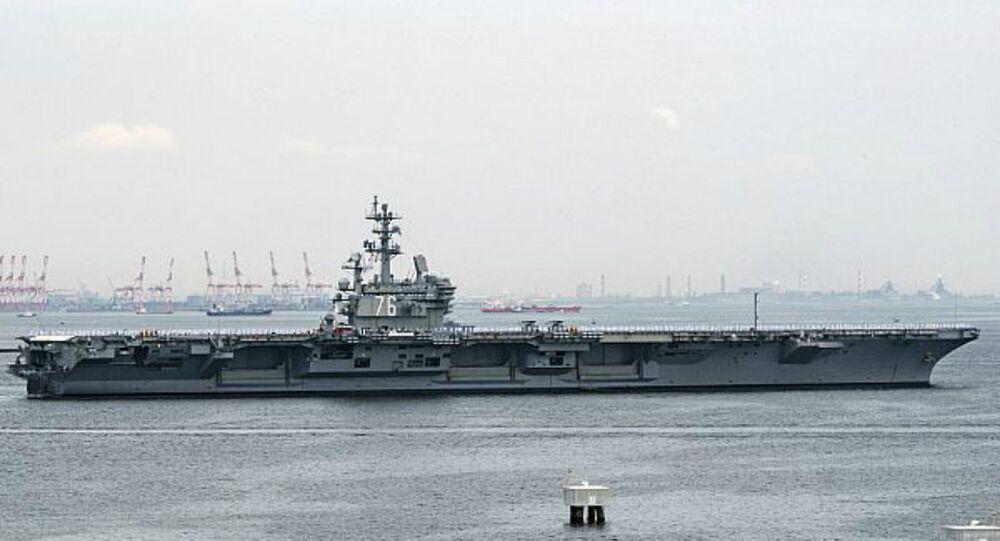 Le porte-avions américain à propulsion nucléaire USS Ronald Reagan