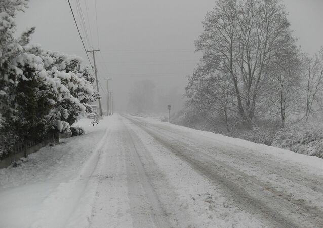 Une tempête de neige