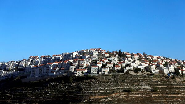 Houses are seen atop a hill in the Israeli settlement of Givat Ze'ev, in the occupied West Bank February 7, 2017 - Sputnik France