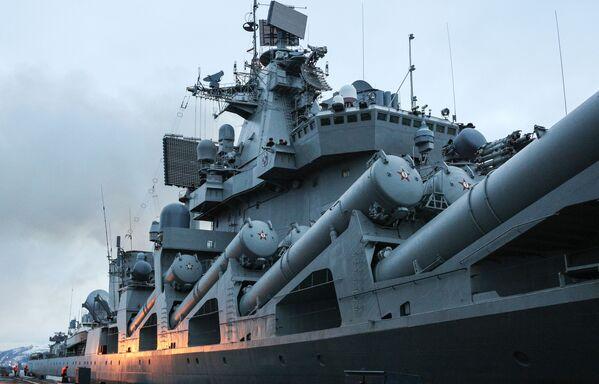 L'accueil des navires de la flotte russe du Nord à Severomorsk - Sputnik France
