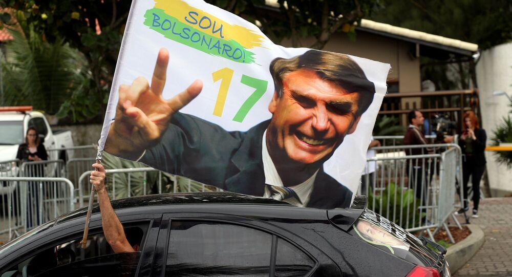 Un supporteur de Jair Bolsonaro