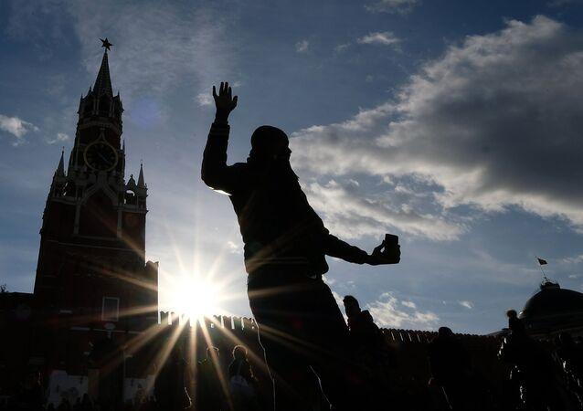 Un touriste à Moscou