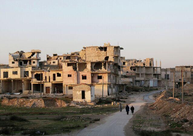 Une ville du gouvernorat d'Idlib (archive photo)