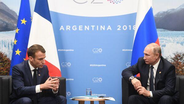 Emmanuel Macron et Vladimir Poutine à Buenos Aires - Sputnik France