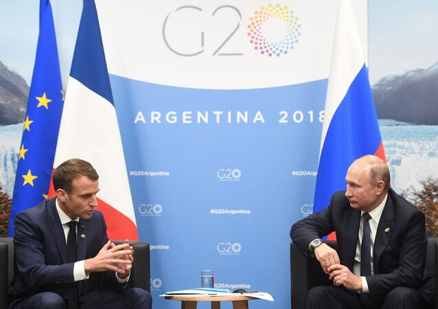 Emmanuel Macron et Vladimir Poutine à Buenos Aires